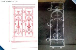 Proyecto de restauracion de barandillas antiguas