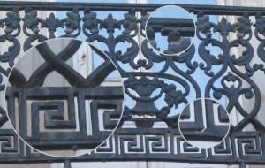 Barandilla antigua de hierro forjado