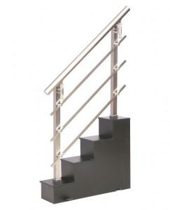 Barandilla de escalera de aluminio inoxidable